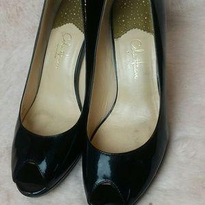 Cole Haan NikeAir Women's Peep Toe black Pumps